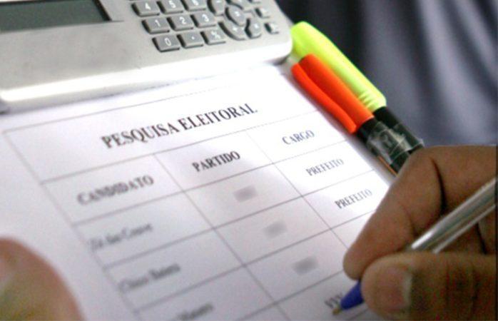 Eleições 2020: foto mostra cédula de pesquisa eleitoral