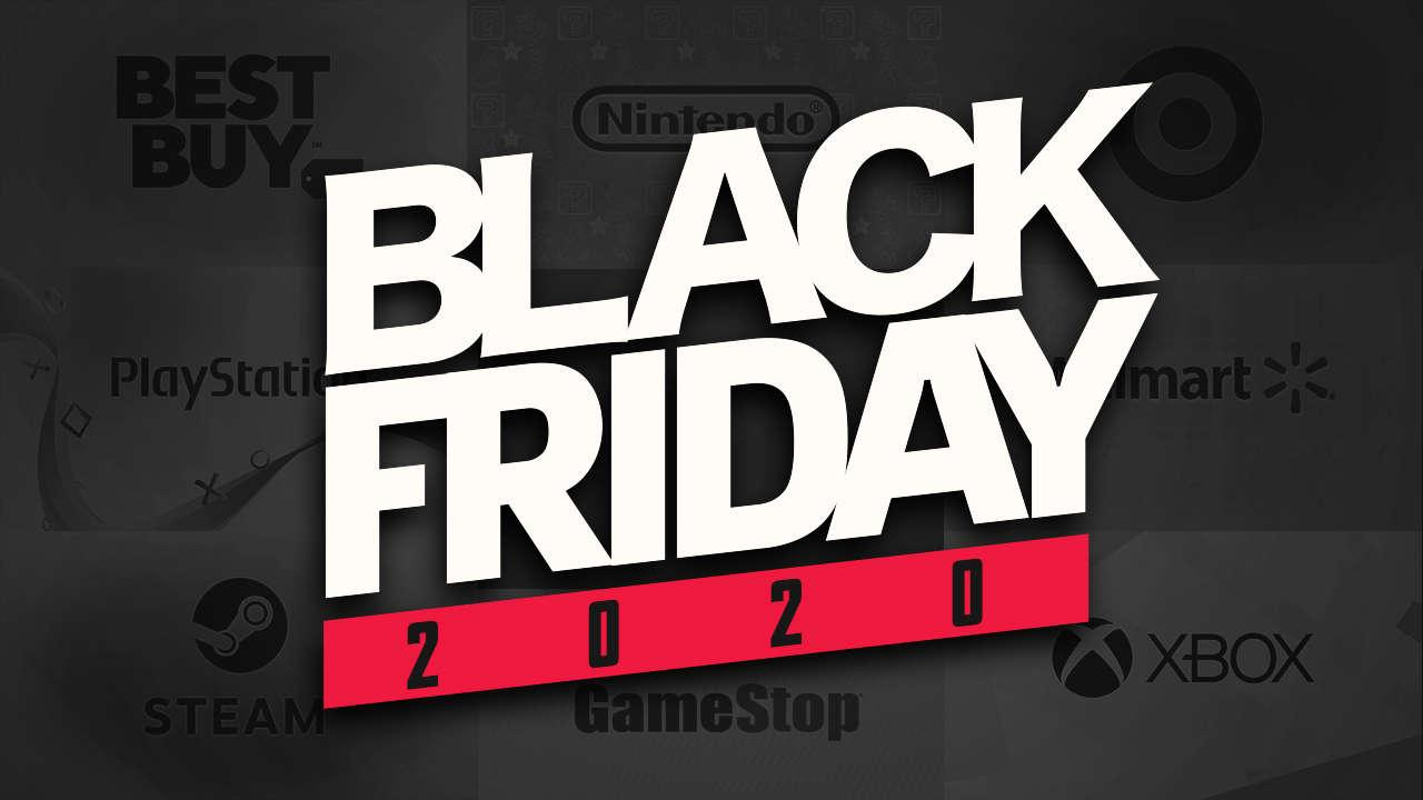 black friday 2020 logotipo fundo preto
