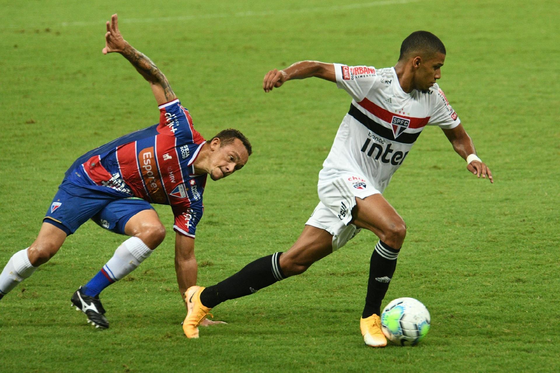 Com dois gols no empate entre São Paulo e Fortaleza, Brenner chegou a artilharia da equipe