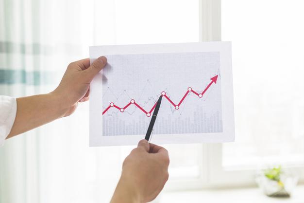 Gráfico de ações.