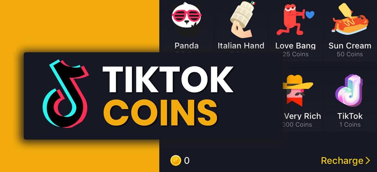 Moedas do TikTok que podem ser compartilhadas pelos usuários
