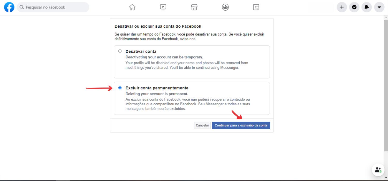 passo a passo de como deletar facebook definitivamente