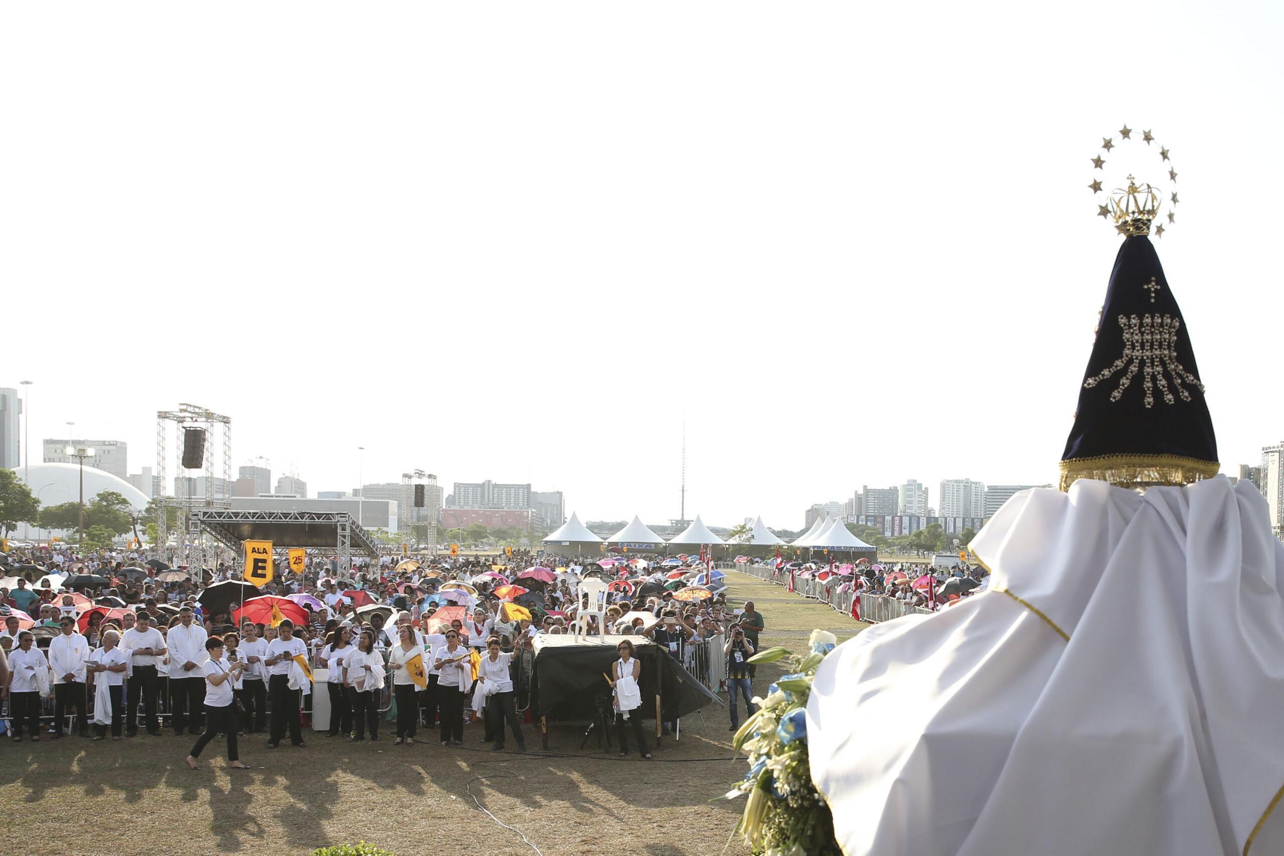 Aglomerações e missas campais, como vistas em anos anteriores, não serão realizadas por conta da pandemia. Foto: Antonio Cruz/Agência Brasil