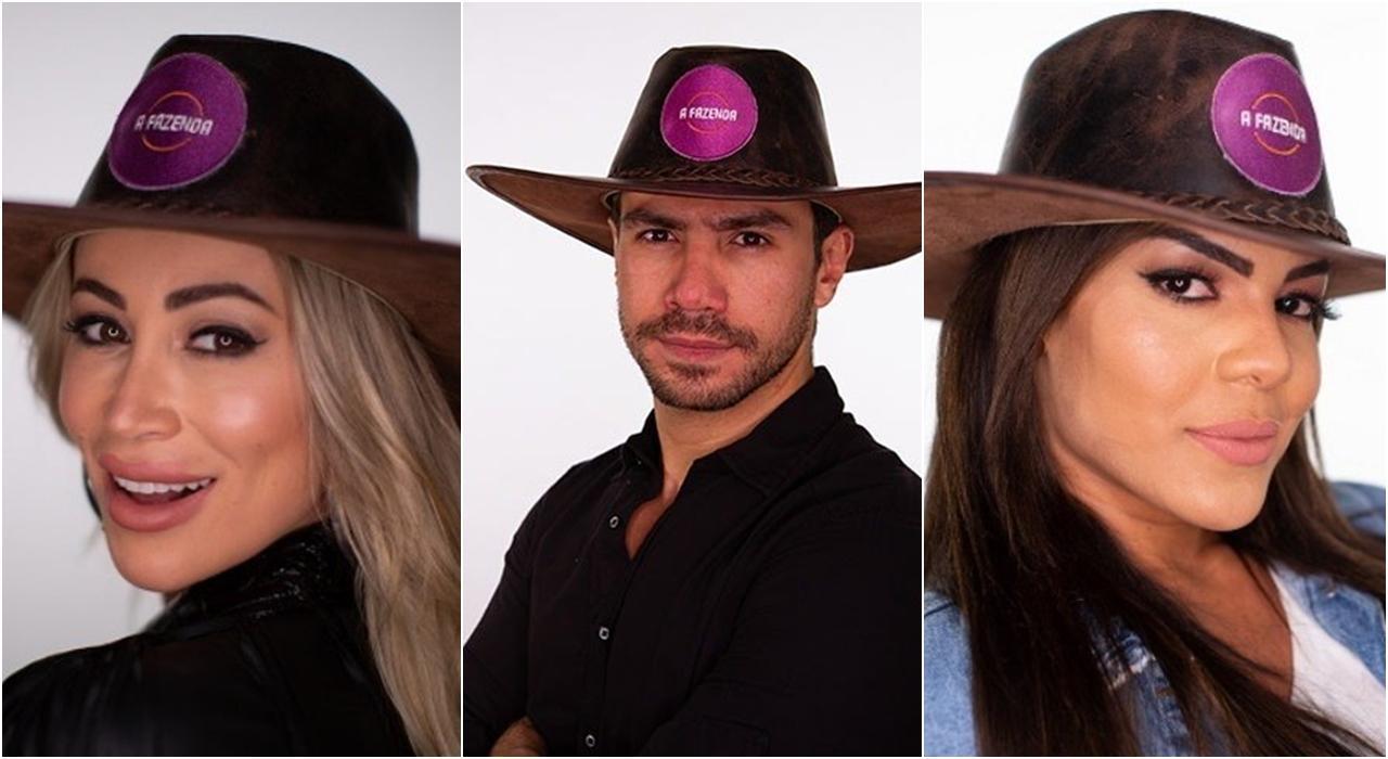 Imagem de Carol, Mariano e Tays na Enquete A Fazneda 12