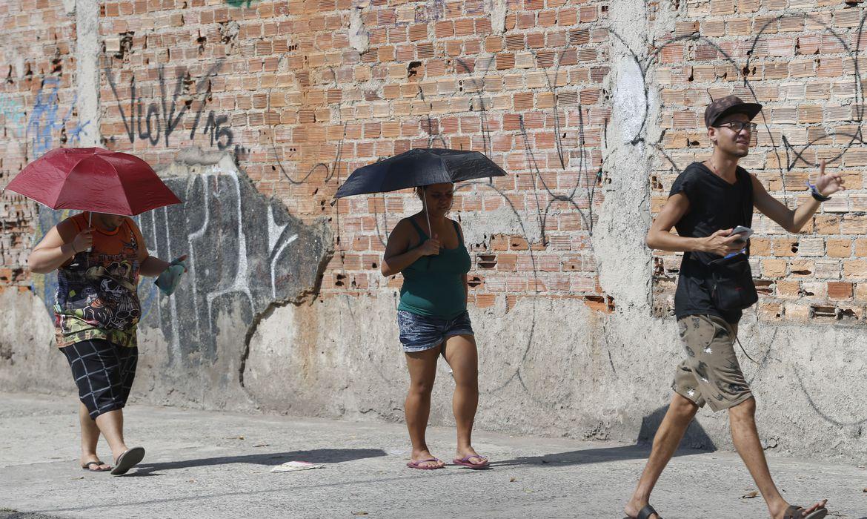 Onda de calor atinge o clima do Rio de Janeiro. Foto: Fernando Frazão/Agência Brasil