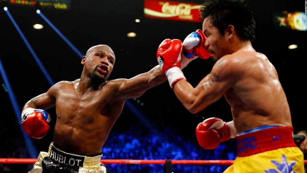 Boxeador Floyd Mayweather em luta