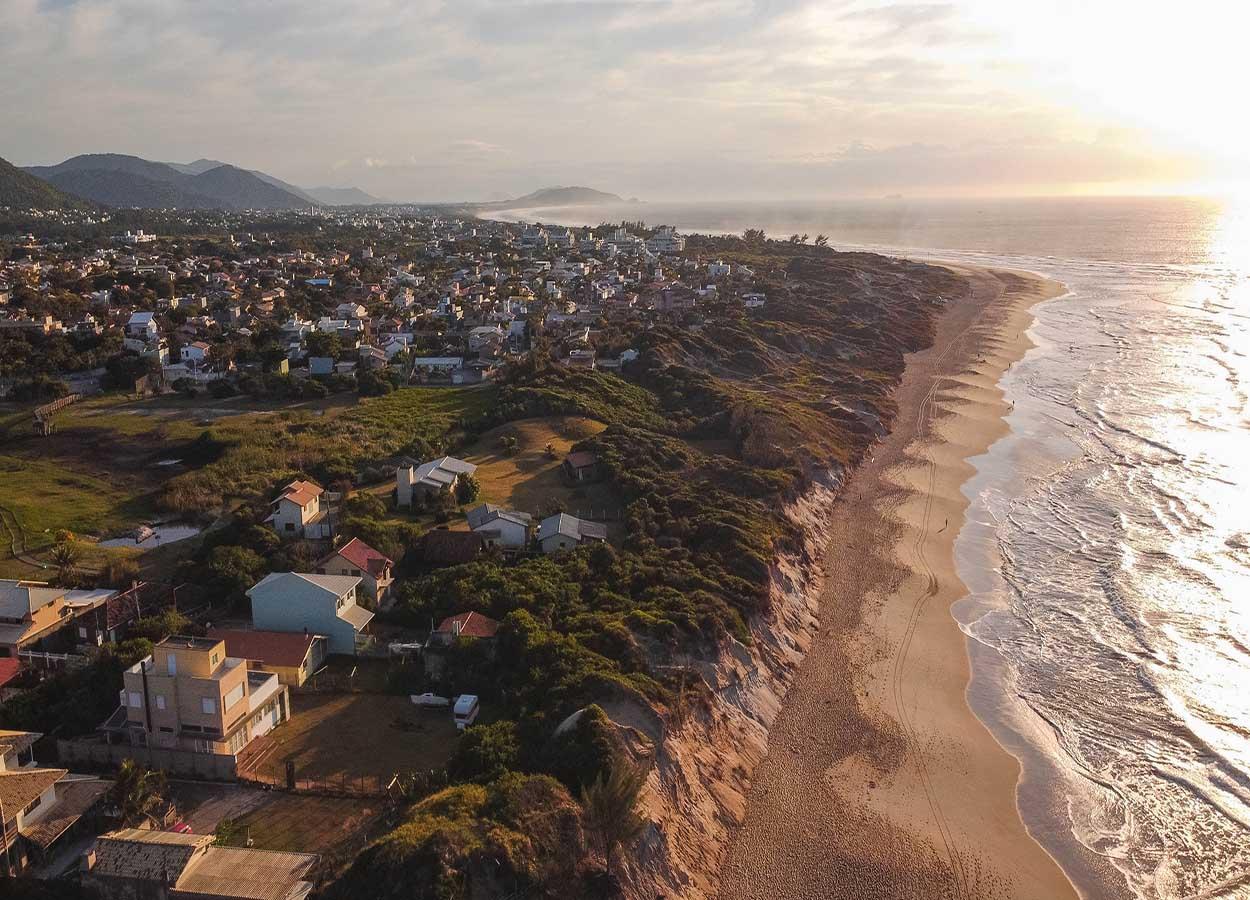 divisão das praias de florianopolis