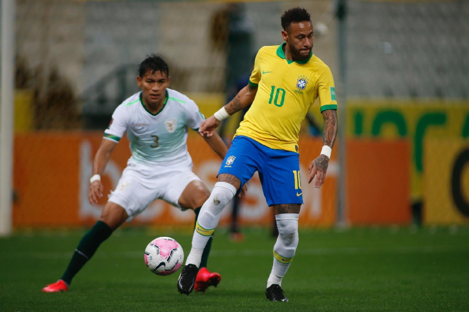 Neymar dá duas assistências em estreia do Brasil nas Eliminatórias Sul-americanas