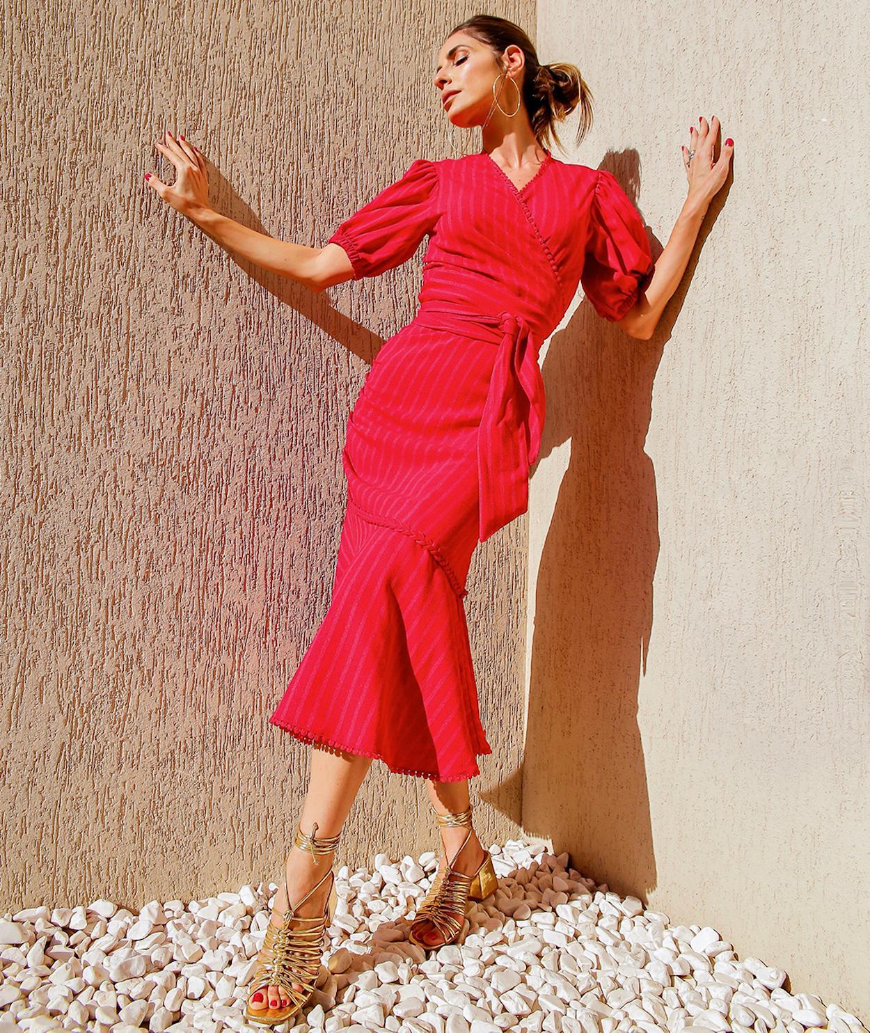 vestido vermelho period