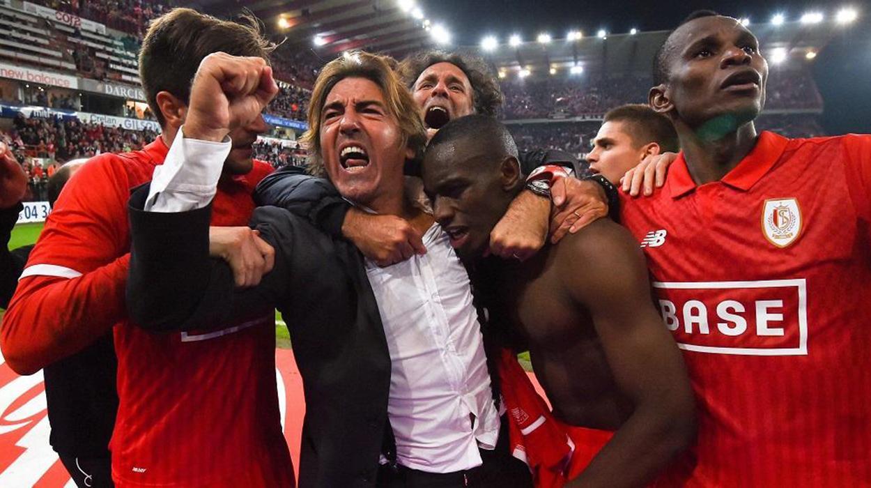 Ricardo Sá Pinto comemora no Standard Liège