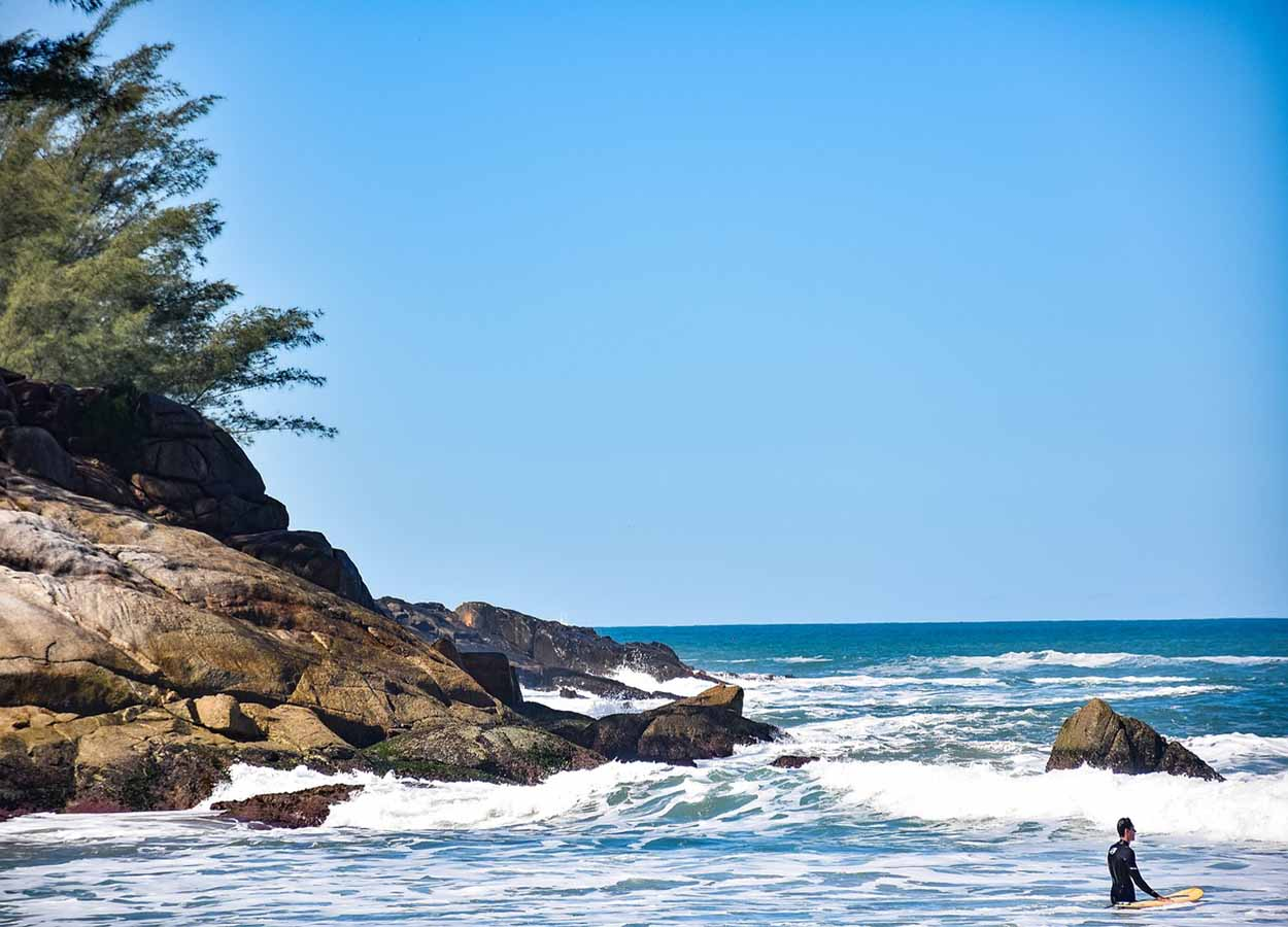 as melhores praias de agito floripa