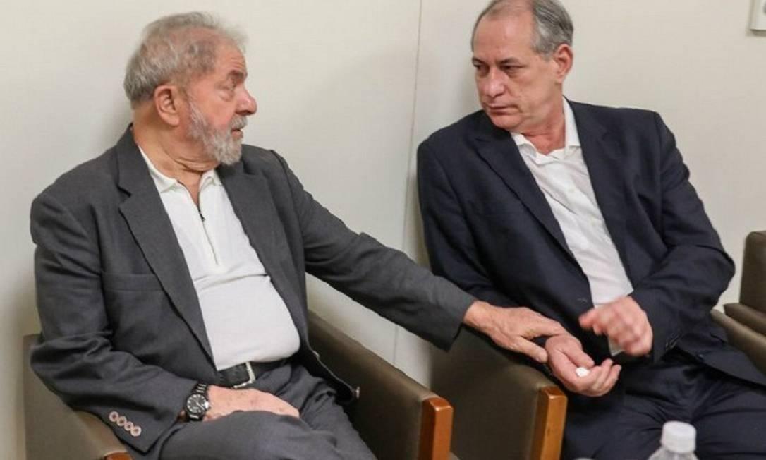 Lula e Ciro Gomes se reencontraram selando a paz. Foto: Ricardo Stuckert