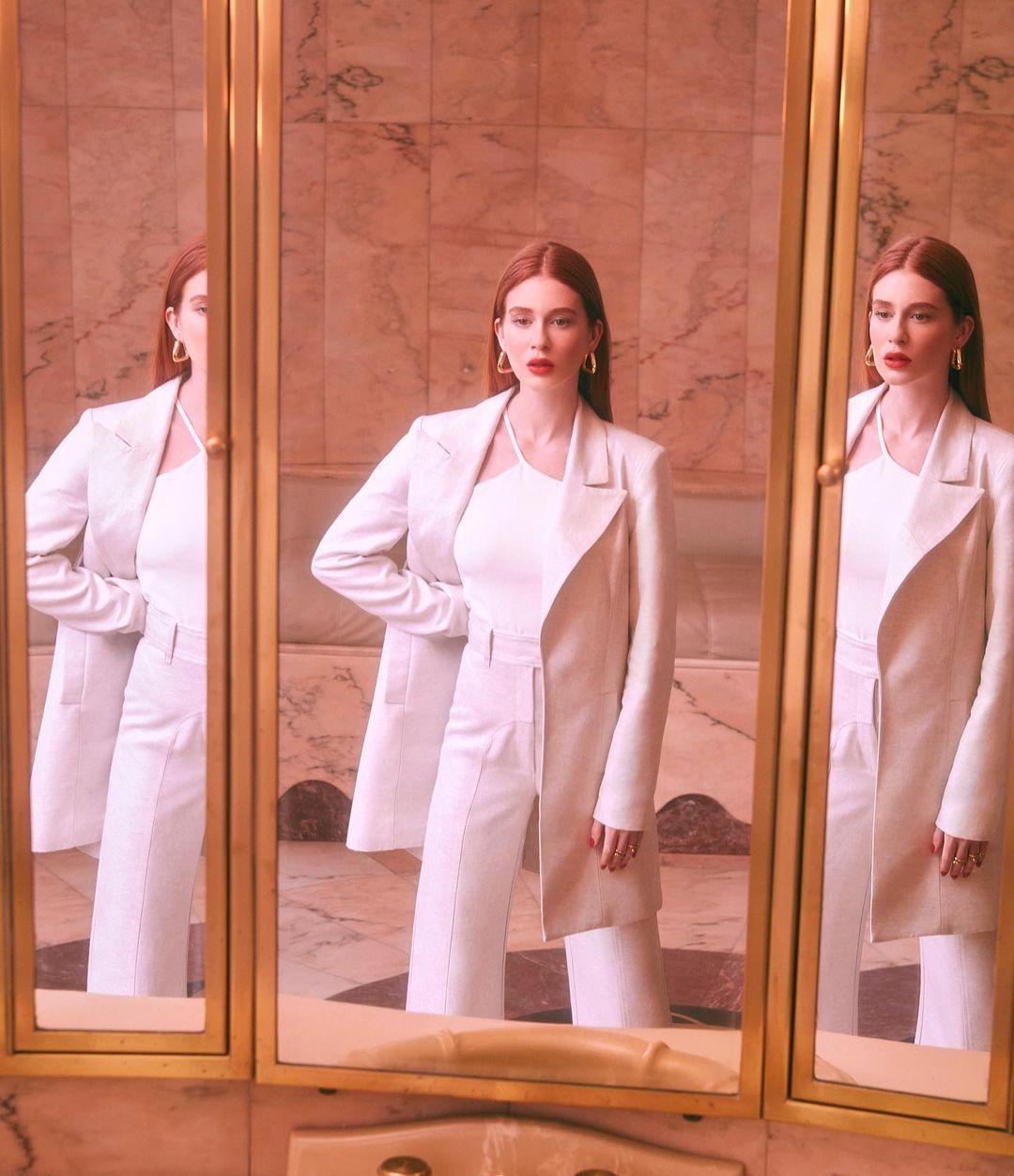Imagem mostra Marina Ruy Barbosa com look da sua primeira coleção da Ginger