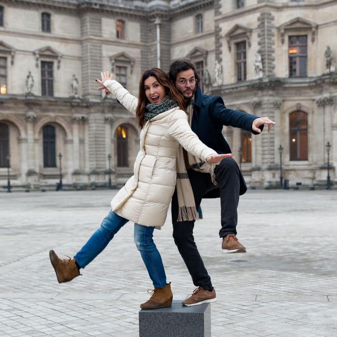 Imagem mostra Fátima Bernardes e o namorado em viagem
