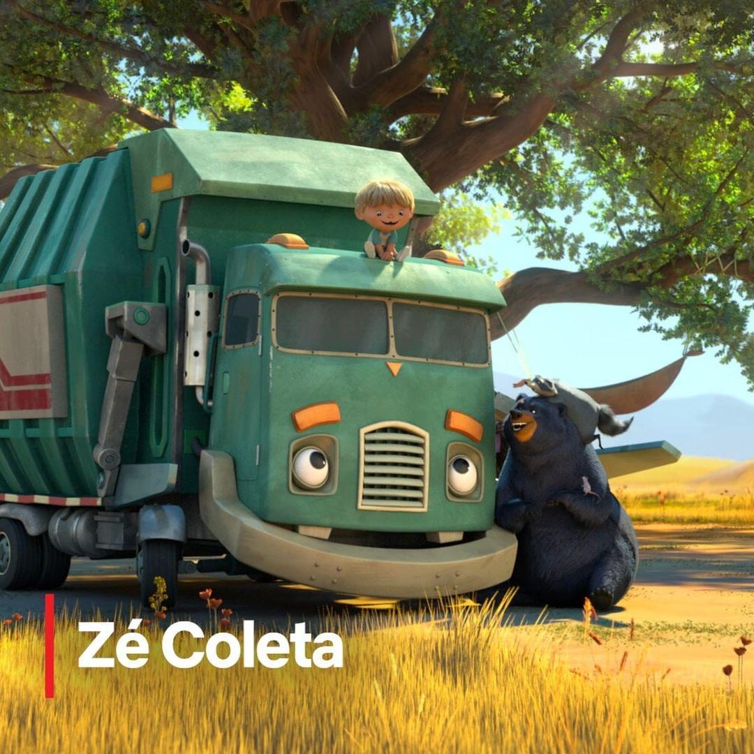 Imagem mostra desenho Zé Coleta