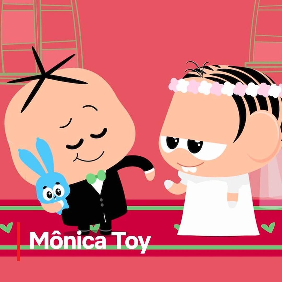 Imagem mostra o desenho Mônica Toy
