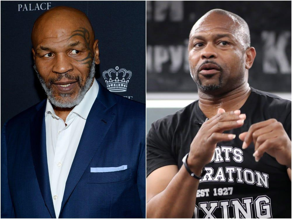 imagem mostra Mike Tyson x Roy Jones Jr.