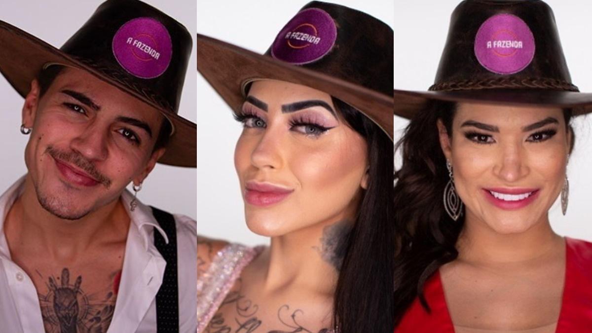 Biel, MC Mirella e Raissa Barbosa em A Fazenda 2020