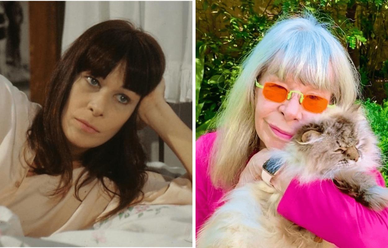 Imagem mostra antes e depois de Rita Lee
