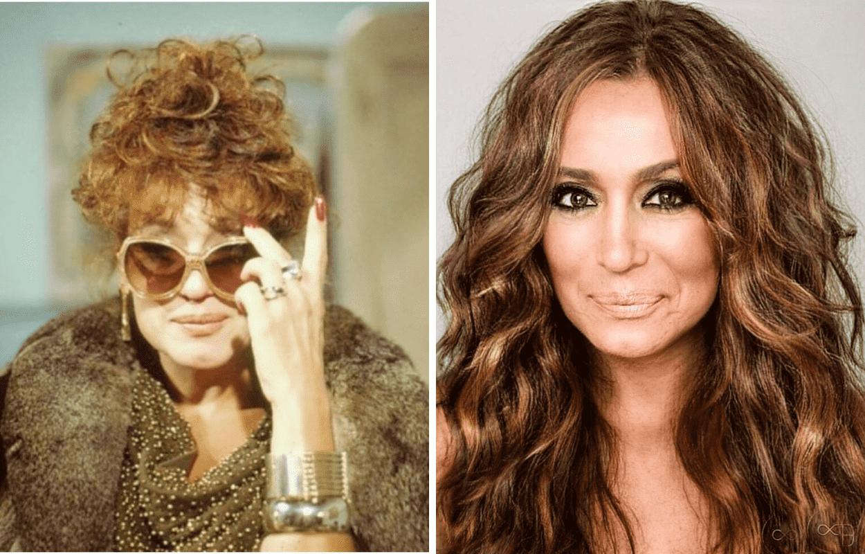 Imagem mostra antes e depois de Susana VIeira