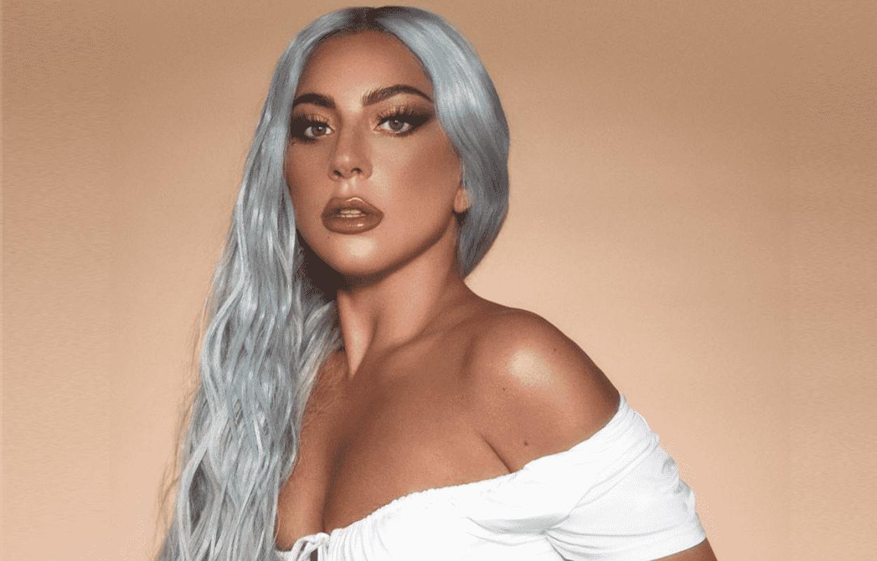 Imagem mostra rosto de Lady Gaga em filme lady gaga e brad pitt