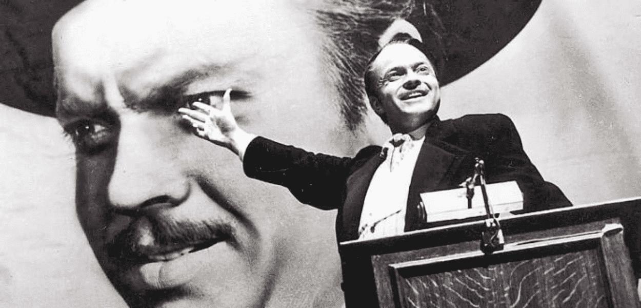 Cena de Cidadão Kane, filme roteirizado por Orson Welles e Herman J. Mankiewicz