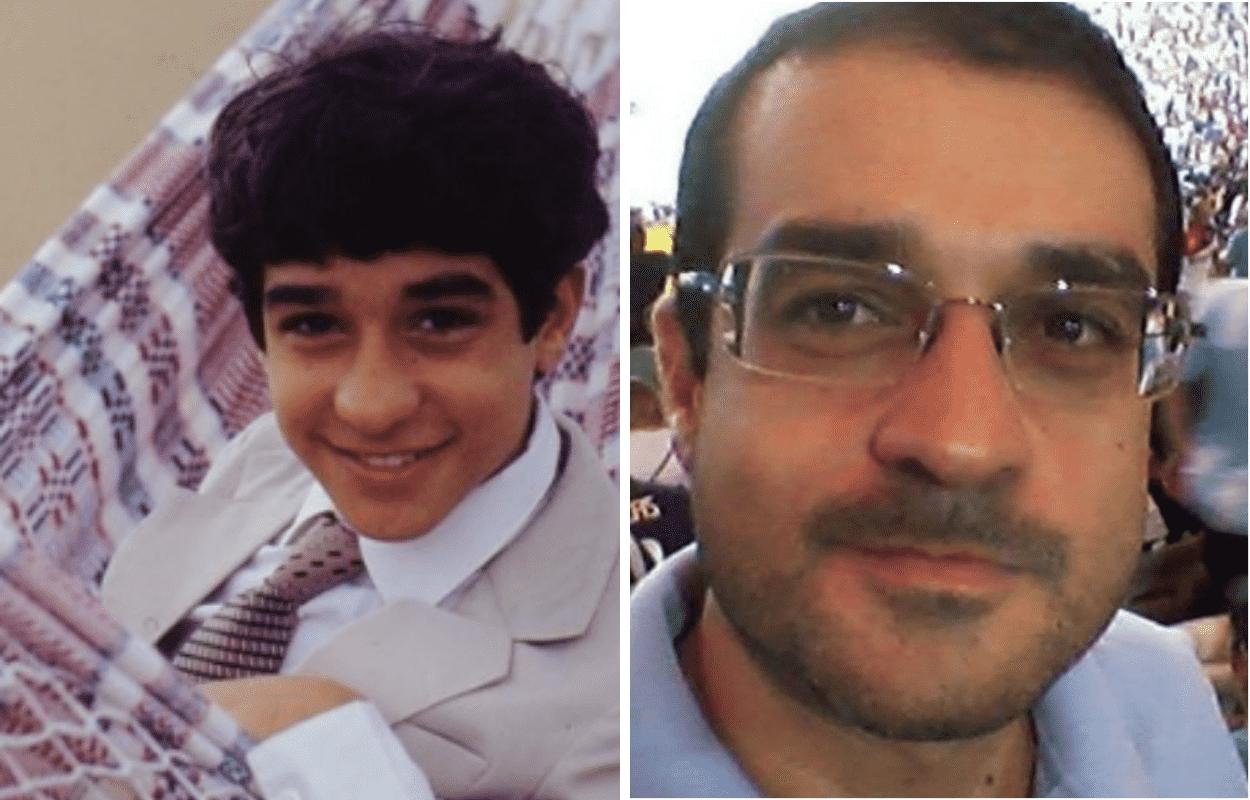Imagem mostra antes e depois de Henrique Farias
