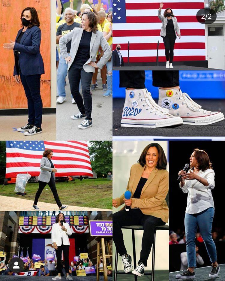 Imagem mostra roupas casuais de Kamala Harris, nova vice-presidente dos Estados Unidos