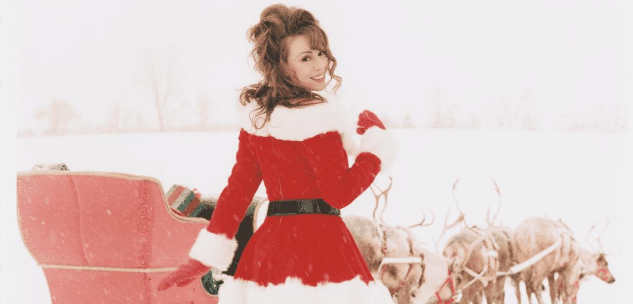 Mariah Carey em foto para uma das músicas de Natal mais bem-sucedidas de todos os tempos.
