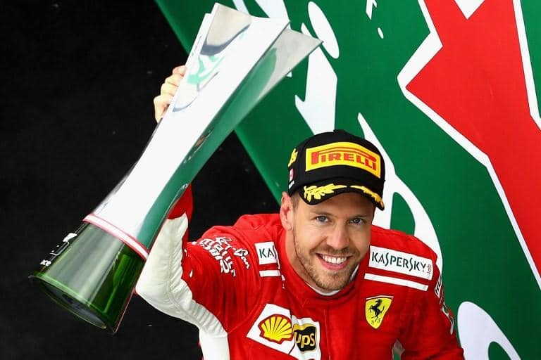 Vettel, piloto da Ferrari