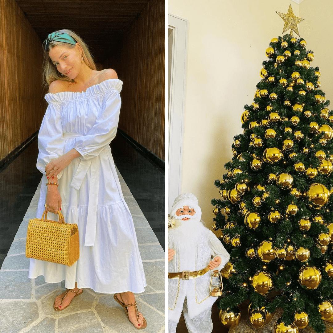Imagem mostra árvore de Natal da Luma Costa