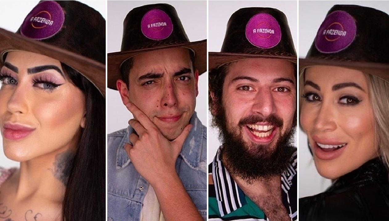 Mirella, Lucas Selfie, Lucas Cartolouco e Carol - Ex-participantes de A Fazenda 2020