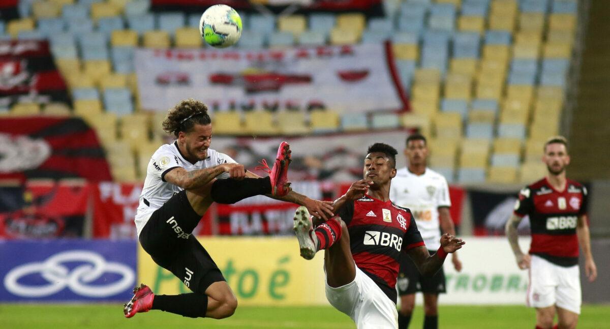 No primeiro turno. Atlético MG venceu Flamengo por 1 a 0, no Maracanã