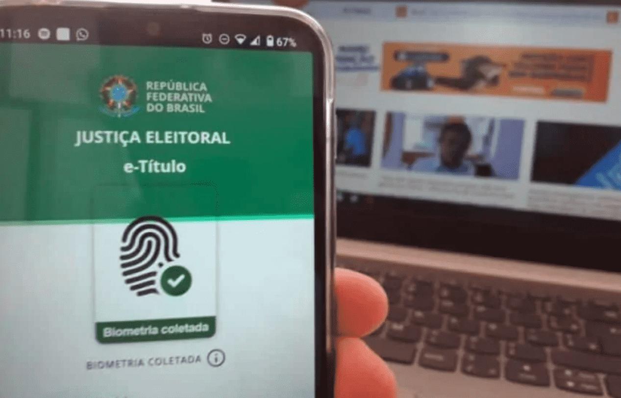 Eleições 2020: Foto mostra aplicativo e-título