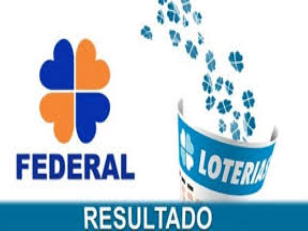 Resultado da loteria Federal de ontem -A imagem mostra um trevo de quatro folhas azul e laranja com o escrito Federal embaixo. Ao um volantes azul