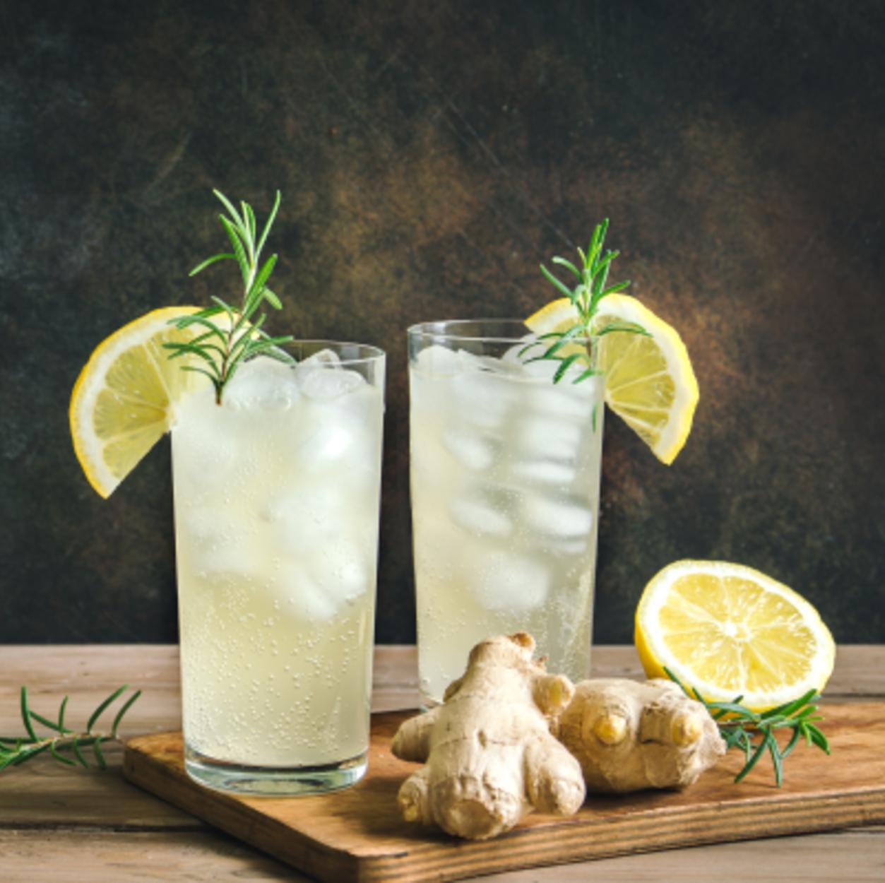 kombucha de gengibre e limão