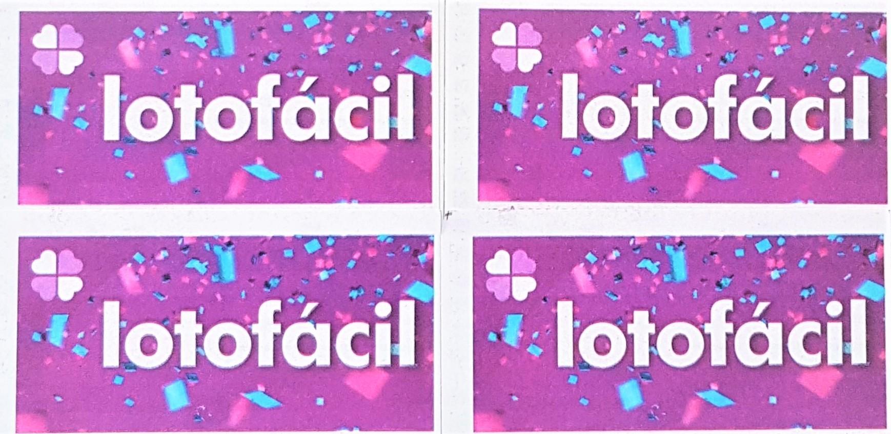 Lotofácil de ontem - A imagem mostra quatro logos do volante da Lotofácil