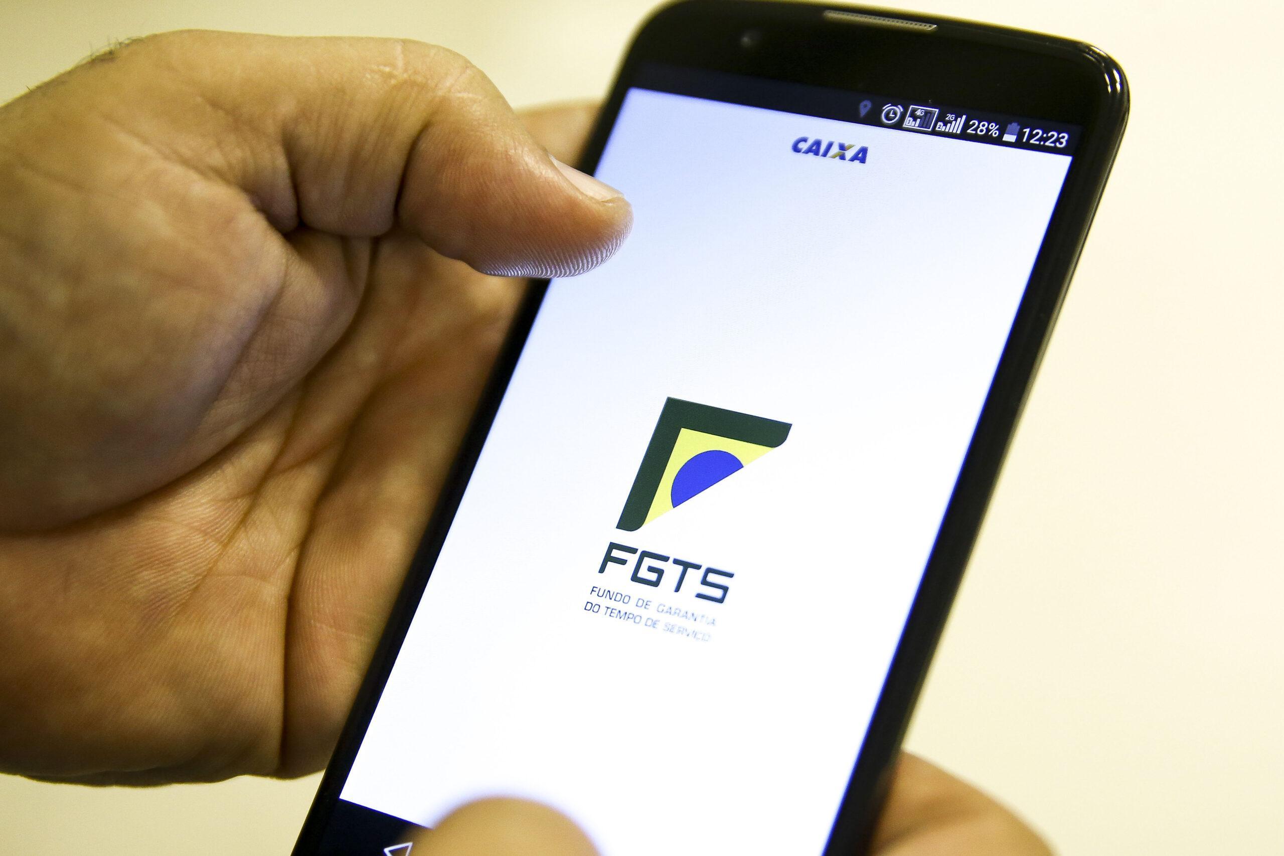 Aplicativo Caixa Econômica Federal- FGTS. FGTS Emergencial.