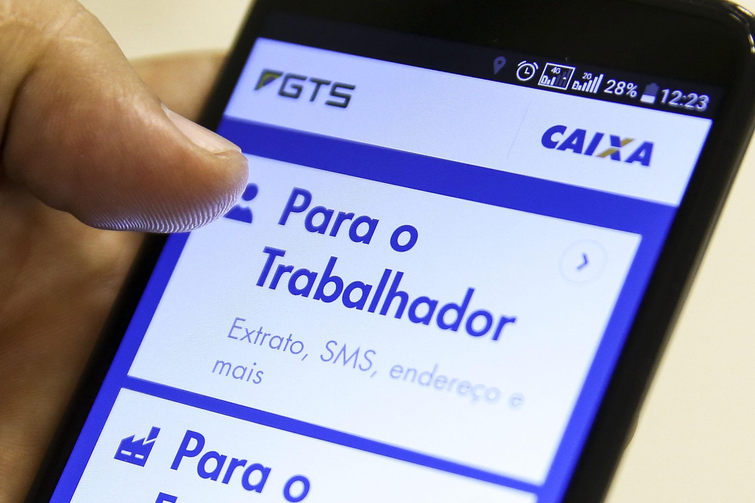 Aplicativo do FGTS. saldo do FGTS pelo celular
