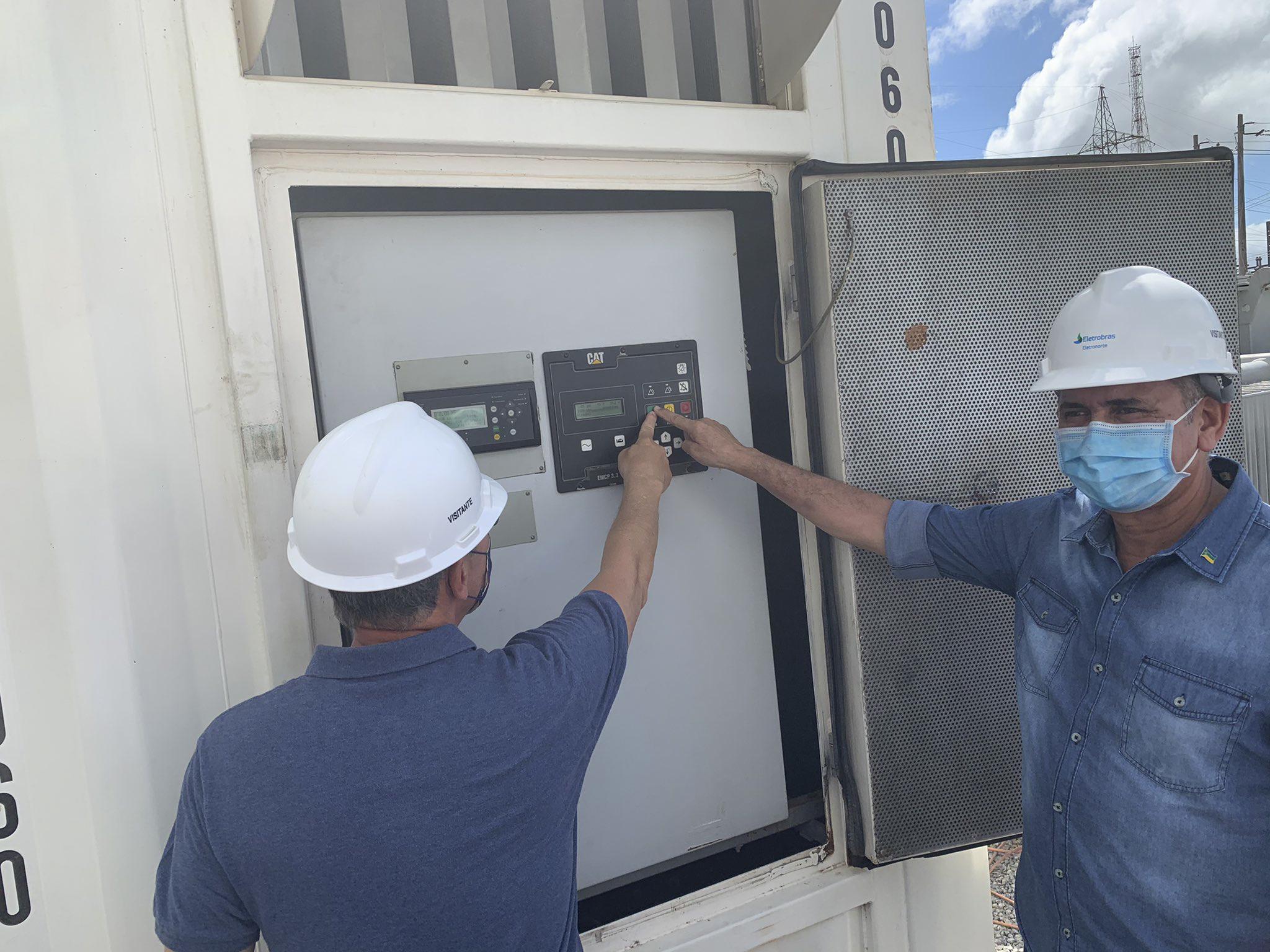 Ministro de Minas e Energia, Bento Albuquerque, realiza visita técnica à subestação Santa Rita e às instalações construídas pela Oliveira Energia para fornecimento de mais 20MW ao Amapá