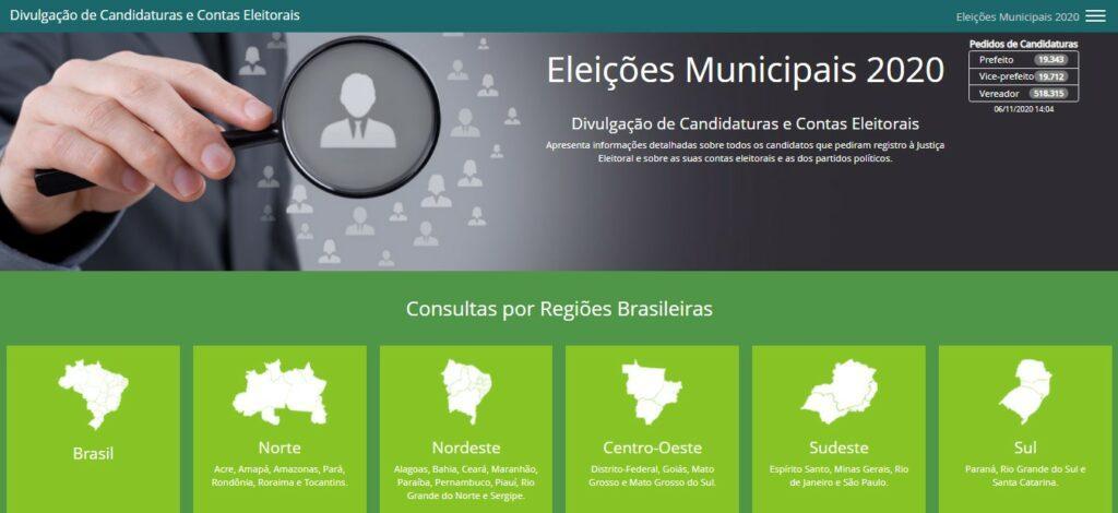 passo 1 como consultar candidatos eleições 2020