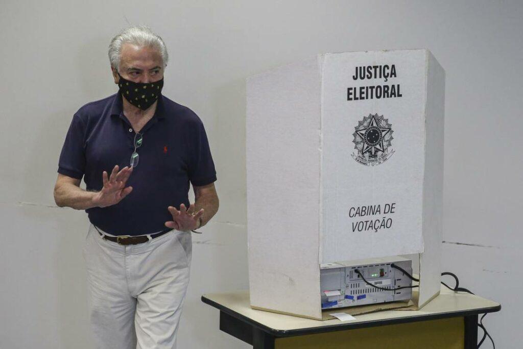 Eleições 2020: Temer votando em SP