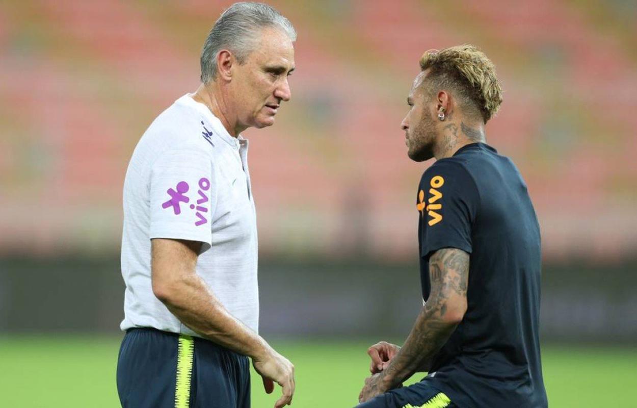 Tite conversa com Neymar