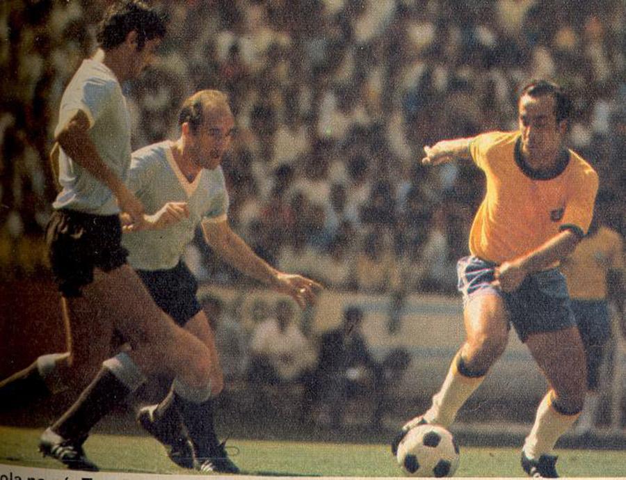 Brasil x Uruguai na Copa de 1970