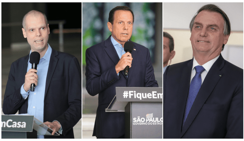 Ibope: Veja avaliação de Covas, Dória e Bolsonaro em SP