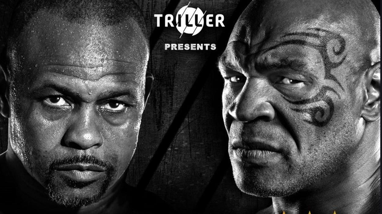 Pôster da luta entre Mike Tyson e Roy Jones Jr.