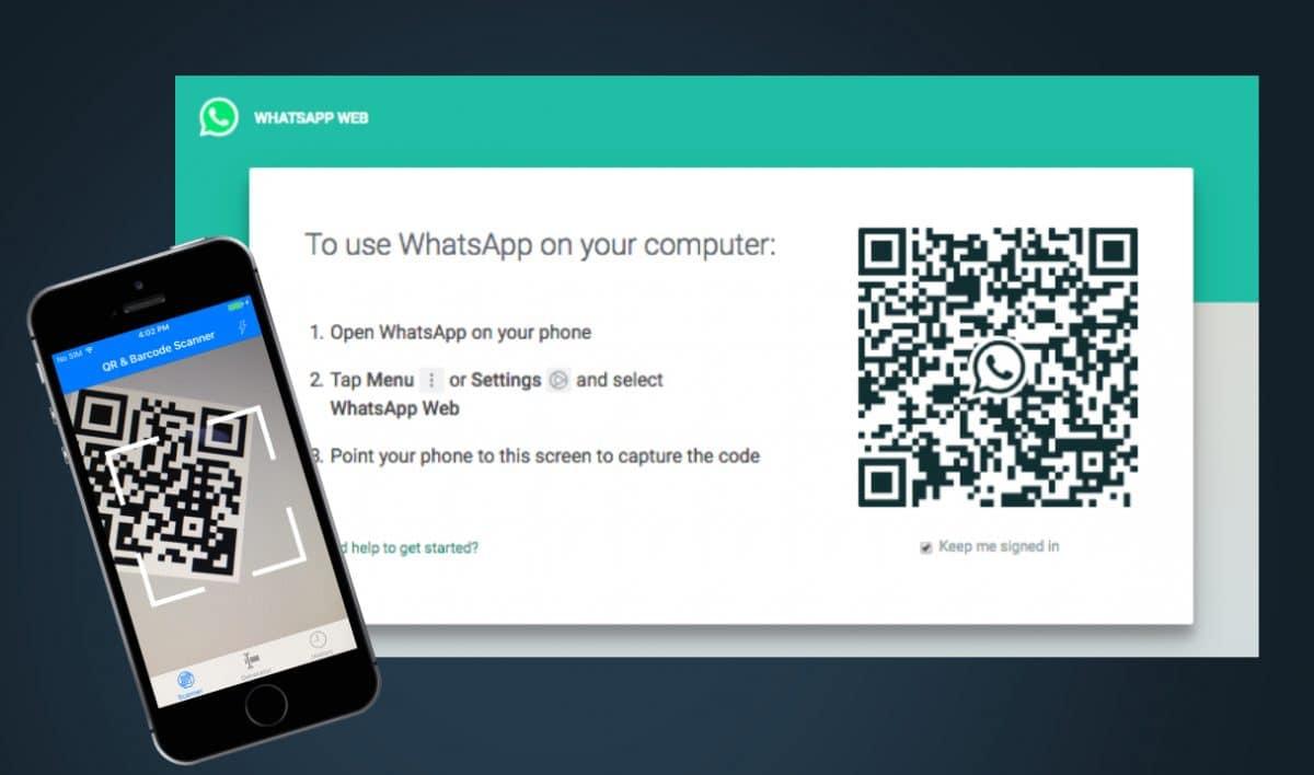 Whatsapp Web exibindo código QR para instalação