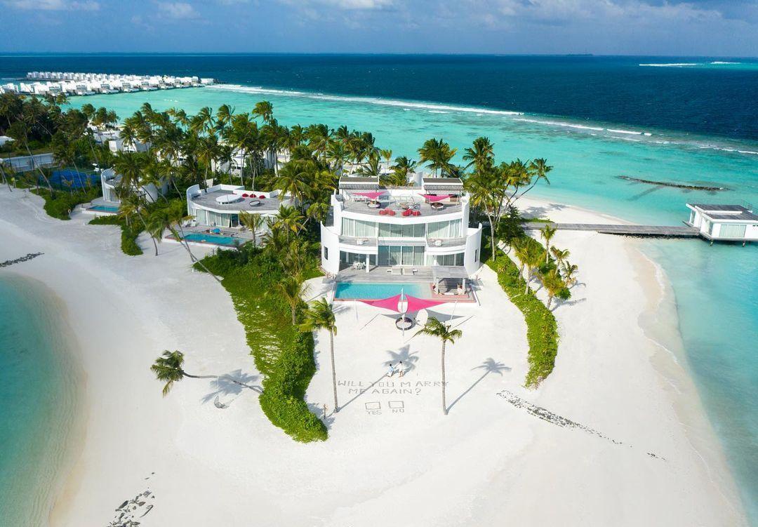 Imagem mostra resort nas Maldivas