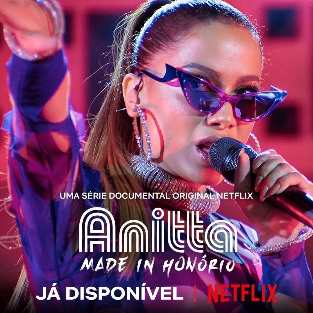 Imagem mostra cartaz de divulgação da série Anitta: Made in Honório