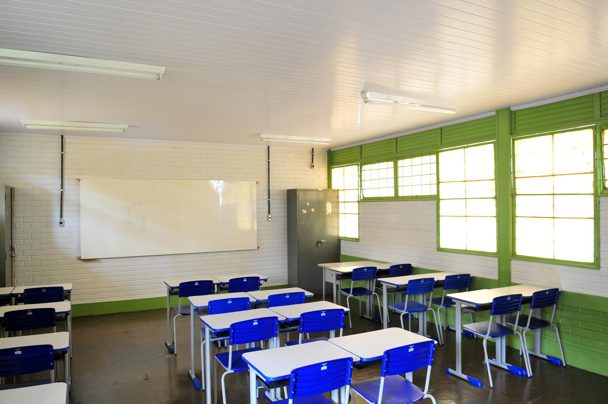 Sala de aula. Fundeb.